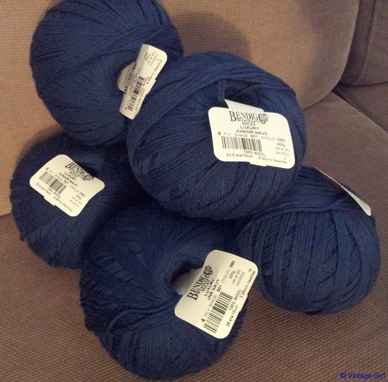 Junior Navy Bendigo Yarn