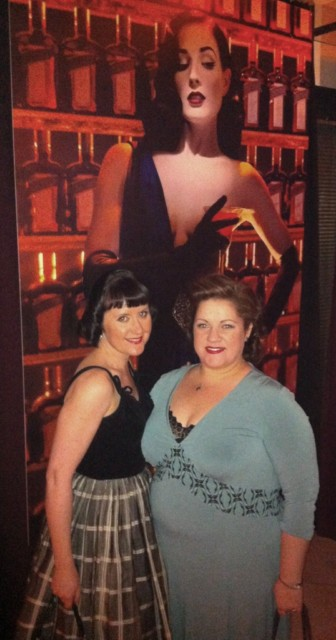 Sharon & I in front of Dita's Poster